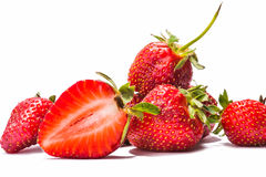 Strawberries berry isolated on white background Royalty Free Stock Photography