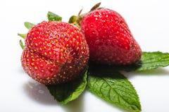 Strawberries berry  on white background Stock Photo