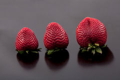 Strawberries on black background. Stock Photography