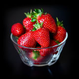 Strawberries on a black background Stock Photo