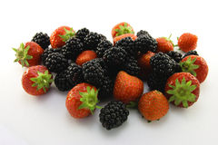 Strawberries and Blackberries Royalty Free Stock Image