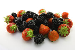 Strawberries and Blackberries Royalty Free Stock Photography