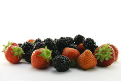 Strawberries and Blackberries Royalty Free Stock Images