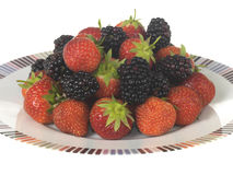 Strawberries and Blackberries Royalty Free Stock Photos