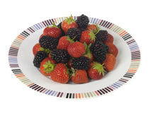Strawberries and Blackberries Stock Photo