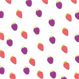 Strawberries and blackberries background. Icon  illustration graphic design Royalty Free Stock Photos