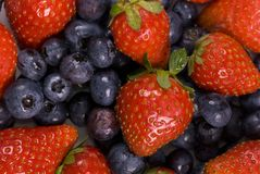 Strawberries and Blueberries Royalty Free Stock Photo