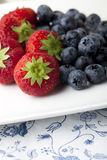 Strawberries and Blueberries Stock Image