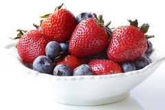 Strawberries and Blueberries Stock Photo