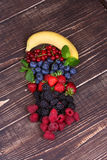 Strawberries, blueberries, blackberries, raspberries and currant Royalty Free Stock Photos