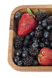 Strawberries blueberries and blackberries Stock Photo