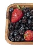 Strawberries blueberries and blackberries Stock Photo