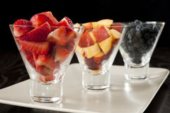 Strawberries, Blueberries and Nectarines Royalty Free Stock Photography