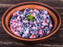 Strawberries and blueberries, wild berry Stock Photography