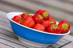 Strawberries in bowl Royalty Free Stock Images