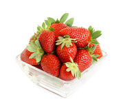 Strawberries in bowl Stock Photography