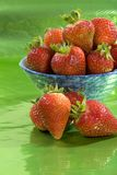 Strawberries in a bowl. Royalty Free Stock Photos