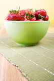 Strawberries bowl. Royalty Free Stock Image