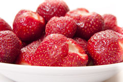 Strawberries in the bowl. Close up Royalty Free Stock Images