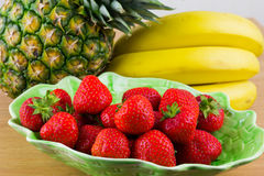Strawberries in a Bowl Royalty Free Stock Images