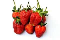 strawberries in bowl. Fresh strawberries in colorful bowl Royalty Free Stock Images