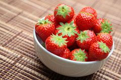Strawberries in a Bowl Royalty Free Stock Photography