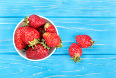 Strawberries in a bowl Stock Images