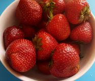 Strawberries in a bowl Royalty Free Stock Photo