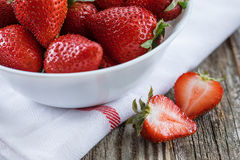 Strawberries in a Bowl, Close Up Royalty Free Stock Photo