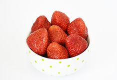 Strawberries in the bowl Stock Images