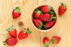 Strawberries in bowl Stock Image