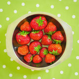 Strawberries in Bowl Stock Images