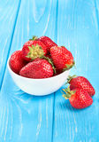 Strawberries in a bowl Stock Image