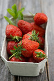 Strawberries in a bowl Stock Photography