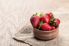 Strawberries in the bowl of Stock Images