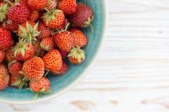 Strawberries  in bowl Stock Photo
