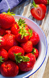 Strawberries in a Bowl . Royalty Free Stock Images