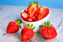 Strawberries in a bowl Stock Photo