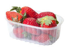 Strawberries in box. Royalty Free Stock Images