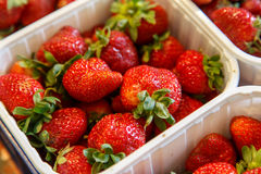 Strawberries in box from a market Royalty Free Stock Photo