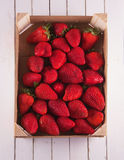 Strawberries in a box Royalty Free Stock Photo