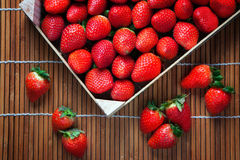 Strawberries in the box Royalty Free Stock Photos