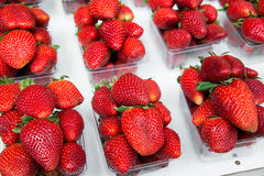 Strawberries in boxes as healthy food Royalty Free Stock Image