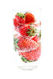 Strawberries and Bubbling Water Royalty Free Stock Photo