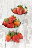 Strawberries in a bucket Royalty Free Stock Photos
