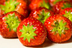 Strawberries. A bunch of delicious fresh strawberries stock photo