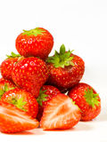 Strawberries. A bunch of fresh sweet strawberries royalty free stock photography