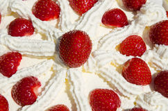 Strawberries cake detail Royalty Free Stock Photography