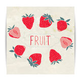 Strawberries card design Royalty Free Stock Images