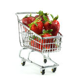 Strawberries in Cart Stock Photography